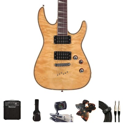 EastCoast GV320 Quilted Maple Electric Guitar Bundle With Amp & Accessories