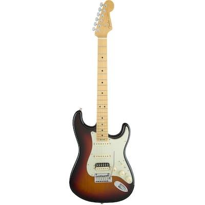 Fender American Elite Strat HSS Shawbucker MN in 3 Tone Sunburst