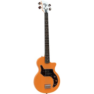 O Bass 4 string electric bass guitar in orange finish
