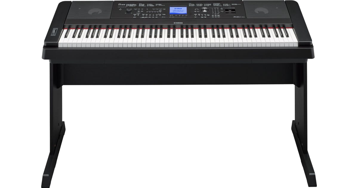 yamaha dgx660 digital home piano in black w stand pedal. Black Bedroom Furniture Sets. Home Design Ideas