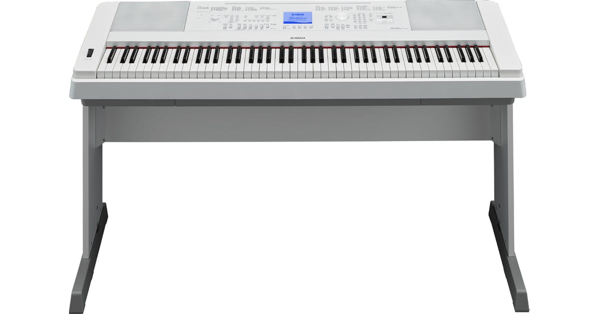 yamaha dgx660 digital home piano in white w stand pedal. Black Bedroom Furniture Sets. Home Design Ideas