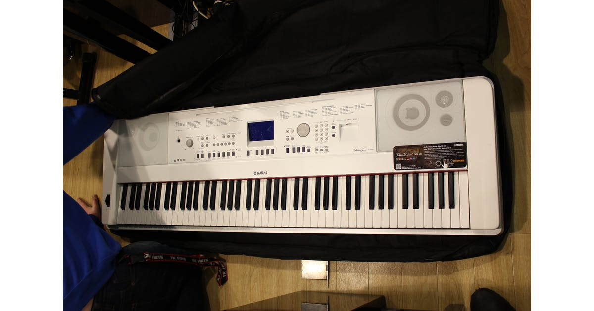 second hand yamaha dgx650 portable digital piano in white w andertons music co. Black Bedroom Furniture Sets. Home Design Ideas