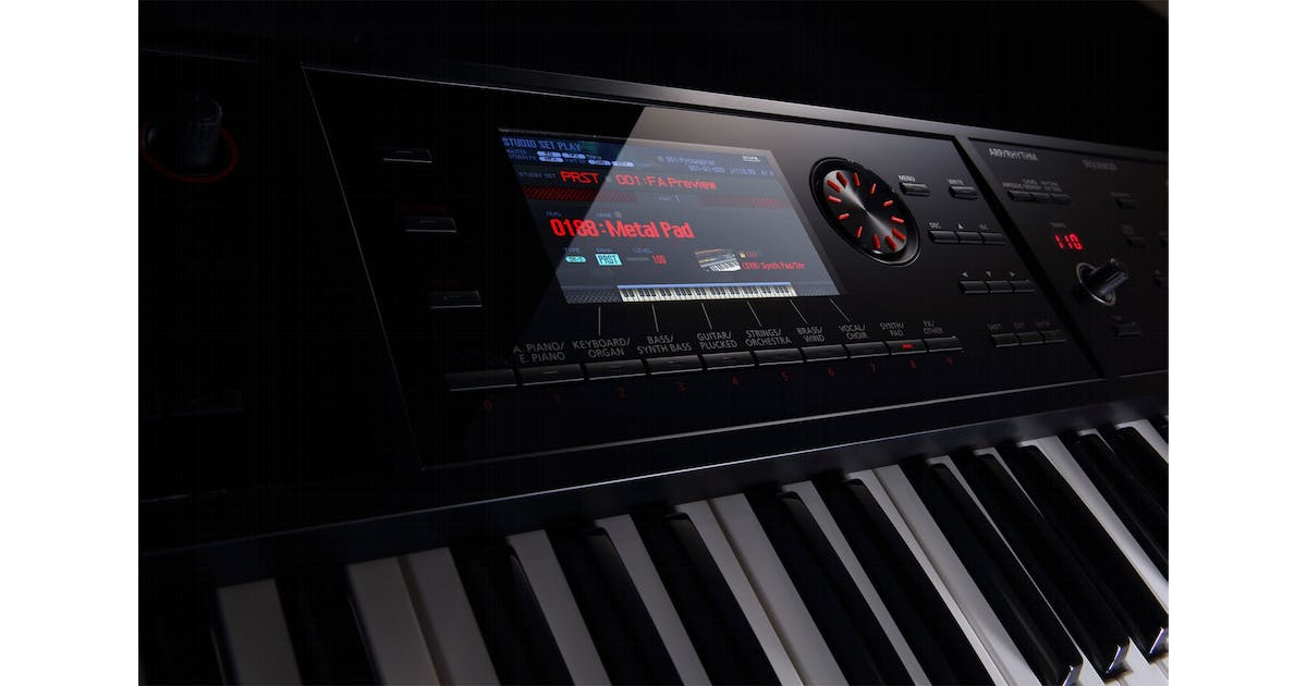roland fa08 88 note weighted keyboard workstation andertons music co. Black Bedroom Furniture Sets. Home Design Ideas