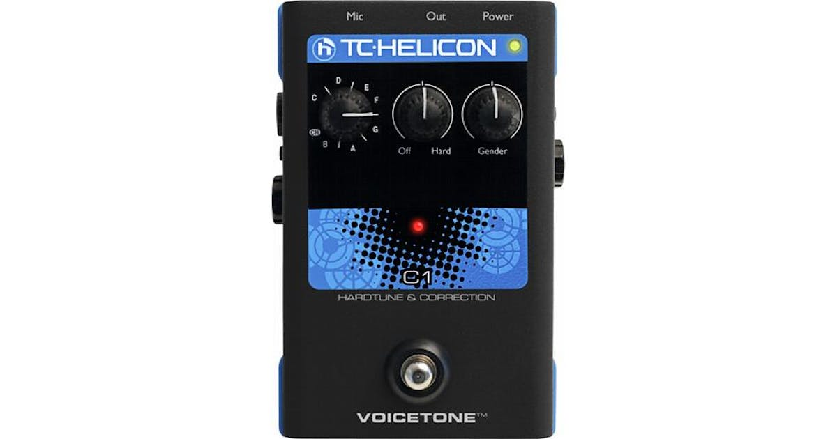 TC Helicon VoiceTone C1 Hardtune & Correction Vocal Stomp Box - Andertons  Music Co