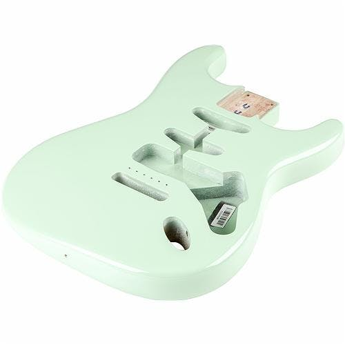 Finish High Gloss Sea Foam Green Stratocaster Erle Replacement Body Alder Body