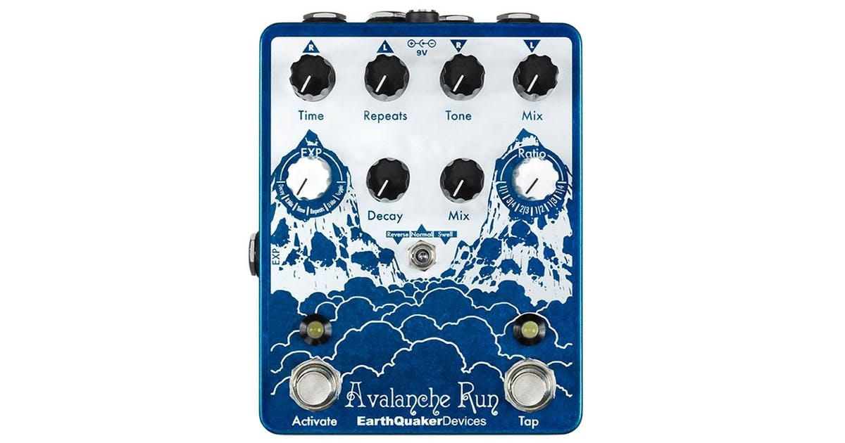 earthquaker devices avalanche run delay pedal andertons cas. Black Bedroom Furniture Sets. Home Design Ideas