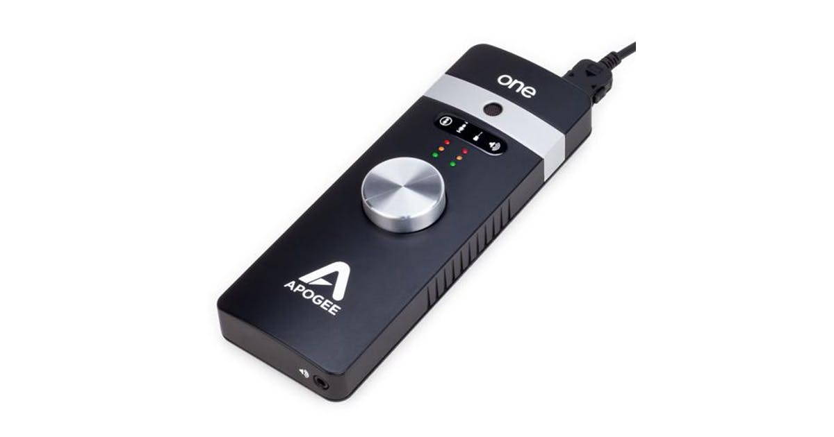 apogee one usb mic and audio interface for ipad mac andertons music co. Black Bedroom Furniture Sets. Home Design Ideas