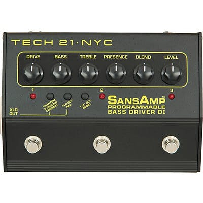 Tech 21 SansAmp Programmable Bass Driver DI Pedal