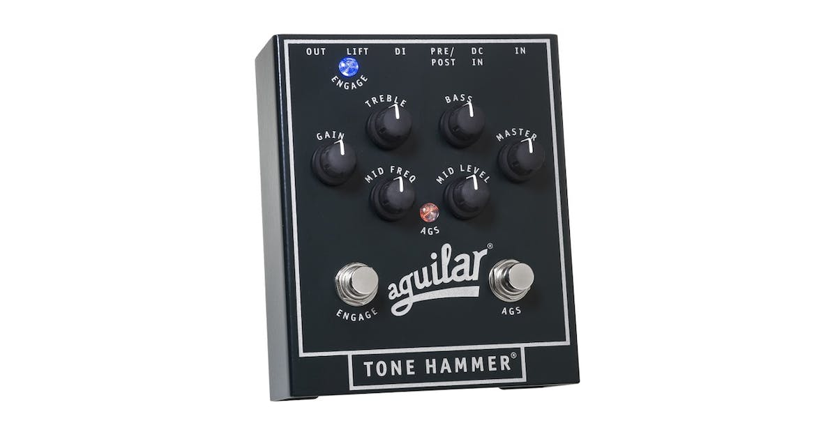 aguilar tone hammer preamp direct box and pedal andertons music co. Black Bedroom Furniture Sets. Home Design Ideas