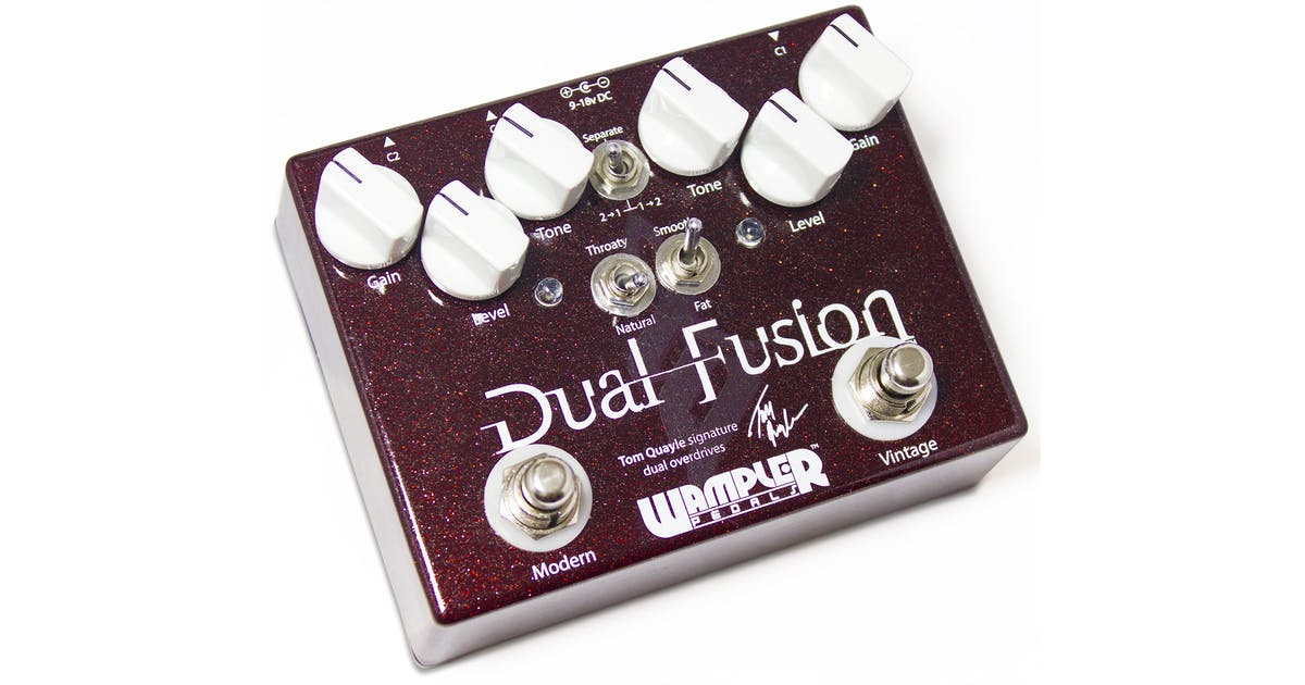 wampler dual fusion drive guitar effect pedal andertons music co. Black Bedroom Furniture Sets. Home Design Ideas