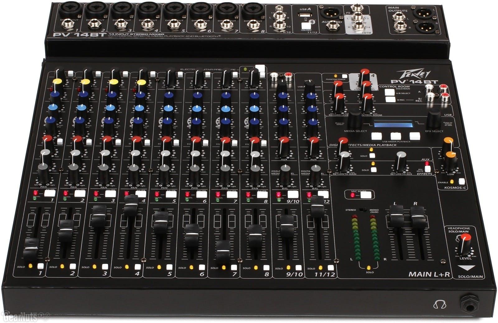 Peavey Pv14bt Mixer With Bluetooth Andertons Music Co Yamaha Mgp12x