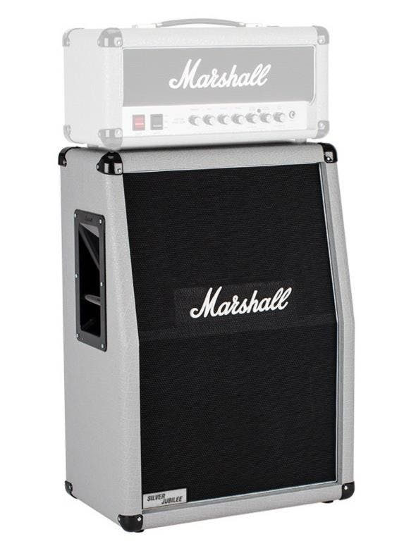 Marshall 2536A 2x12 Vertical Silver Jubilee Cab - Andertons Music Co.