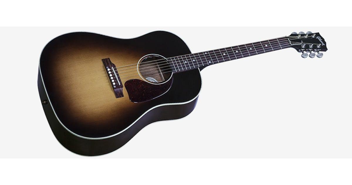 gibson j 45 standard acoustic guitar in vintage sunburst 2017 andertons music co. Black Bedroom Furniture Sets. Home Design Ideas