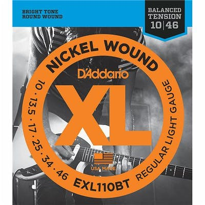 D'Addario XL110BT 10 46 Nickel Wound Balanced Tension Regular