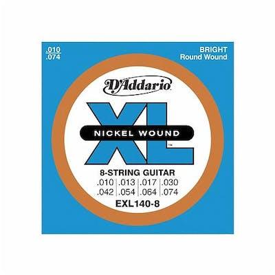 D'addario XL 10-74 Light Top/Heavy Bottom 8 String Set