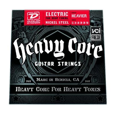 Dunlop Heavy Core HEAVIER strings 11-50
