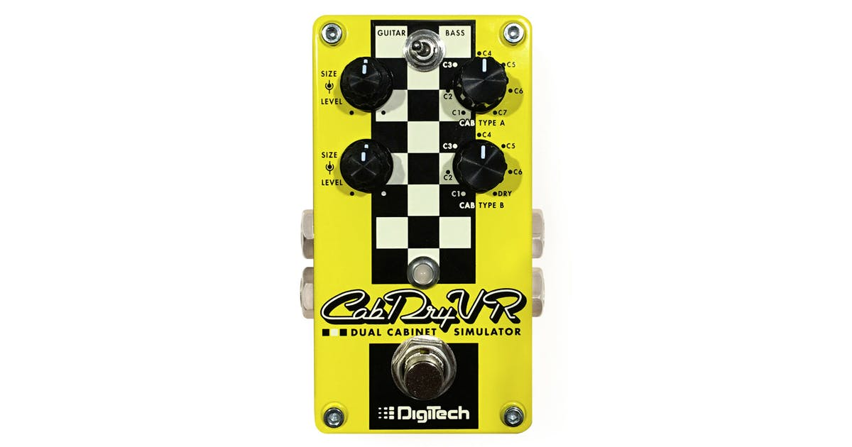 digitech cabdryvr dual cabinet simulator pedal andertons music co. Black Bedroom Furniture Sets. Home Design Ideas
