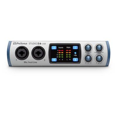 PreSonus Studio 2 6 - 2x4, 192 kHz, USB 2.0 Recording System