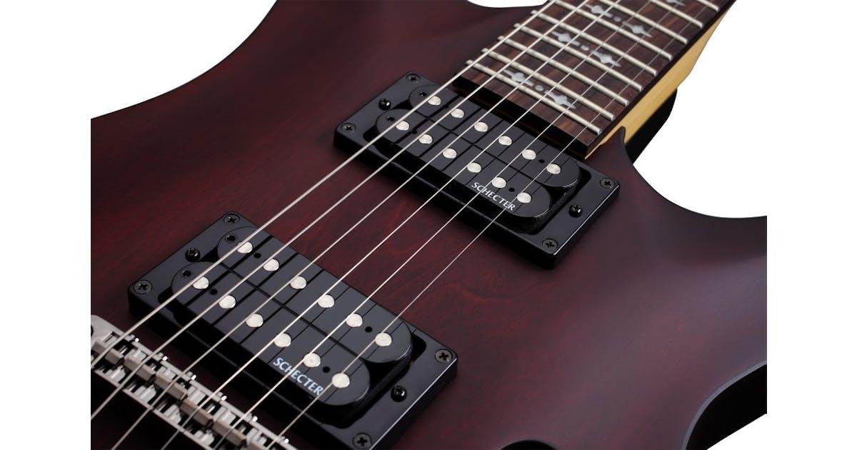 schecter omen 8 string 2012 electric guitar in walnut satin andertons music co. Black Bedroom Furniture Sets. Home Design Ideas