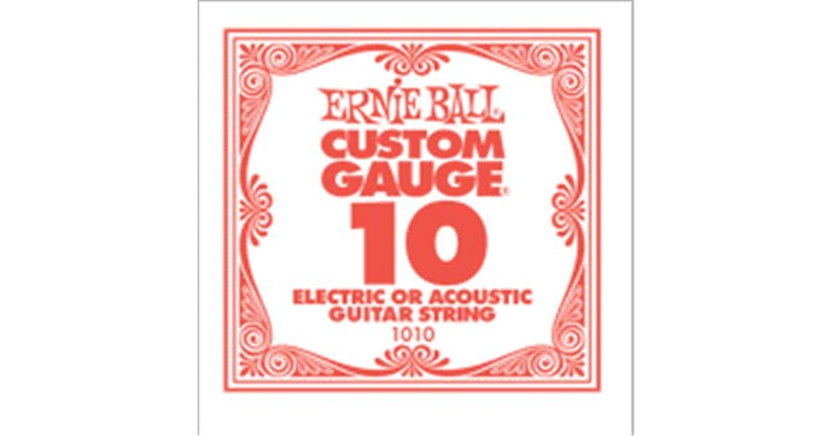 ernie ball single plain guitar string 10 andertons music co. Black Bedroom Furniture Sets. Home Design Ideas