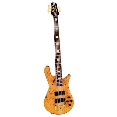 Spector Bass Euro 5LX in Poplar Burl Gloss With EMG Pickups