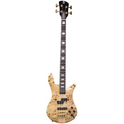 Spector Bass Euro 4LX in Poplar Burl Gloss With Aguilar Pickups