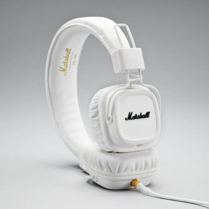 dc041f9a9bd Marshall Major II Bluetooth Headphones White - Andertons Music Co.