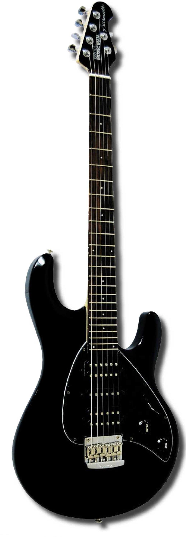 music man silhouette hsh rosewood neck black w black pickguardmusic man silhouette hsh rosewood neck black