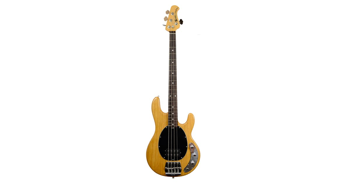 music man stingray bass 4 string 3band eq r w in natural w black andertons music co. Black Bedroom Furniture Sets. Home Design Ideas