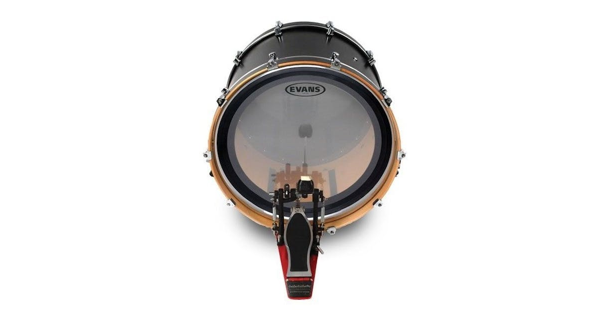 evans 16 emad clear bass drum head andertons music co. Black Bedroom Furniture Sets. Home Design Ideas