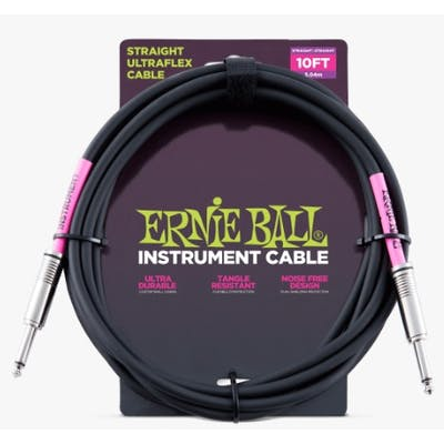 Ernie Ball Ultraflex Black Instrument Cable