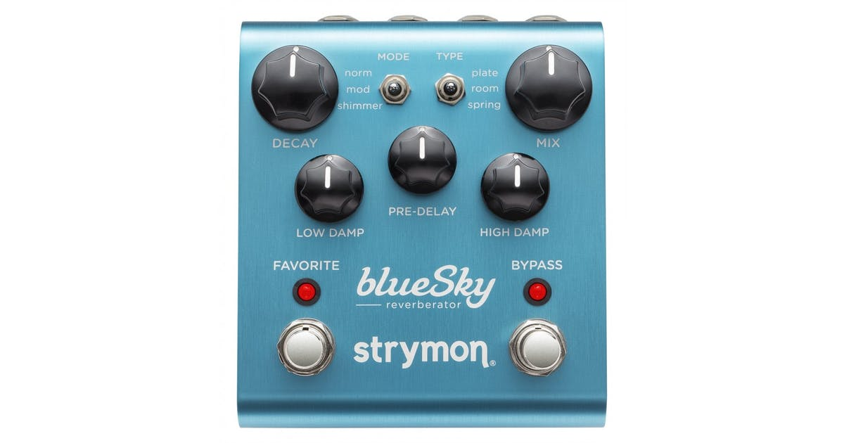 strymon blue sky reverberator reverb pedal andertons music co. Black Bedroom Furniture Sets. Home Design Ideas