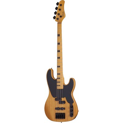 Schecter Model-T Session bass guitar in Antique Natural Satin