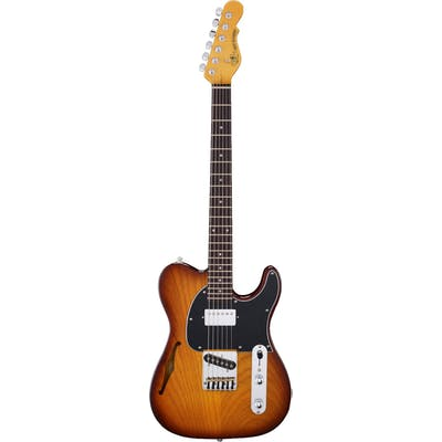 G&L Tribute Series ASAT Classic Bluesboy Semi Hollow Tobacco