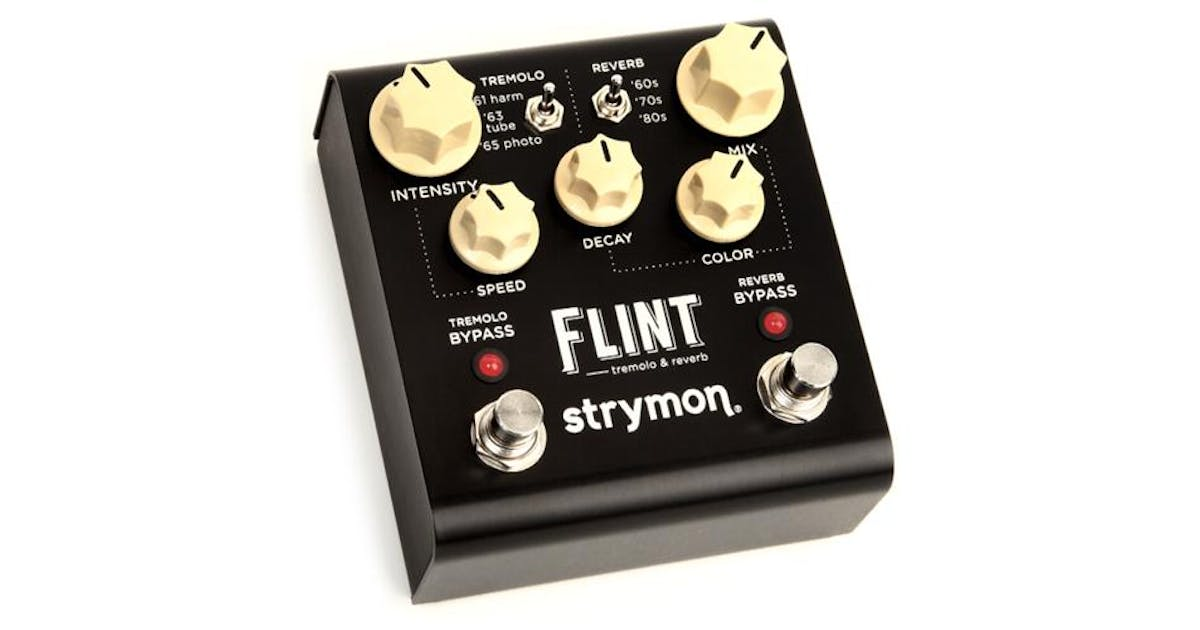 strymon flint tremolo and reverb pedal andertons music co. Black Bedroom Furniture Sets. Home Design Ideas