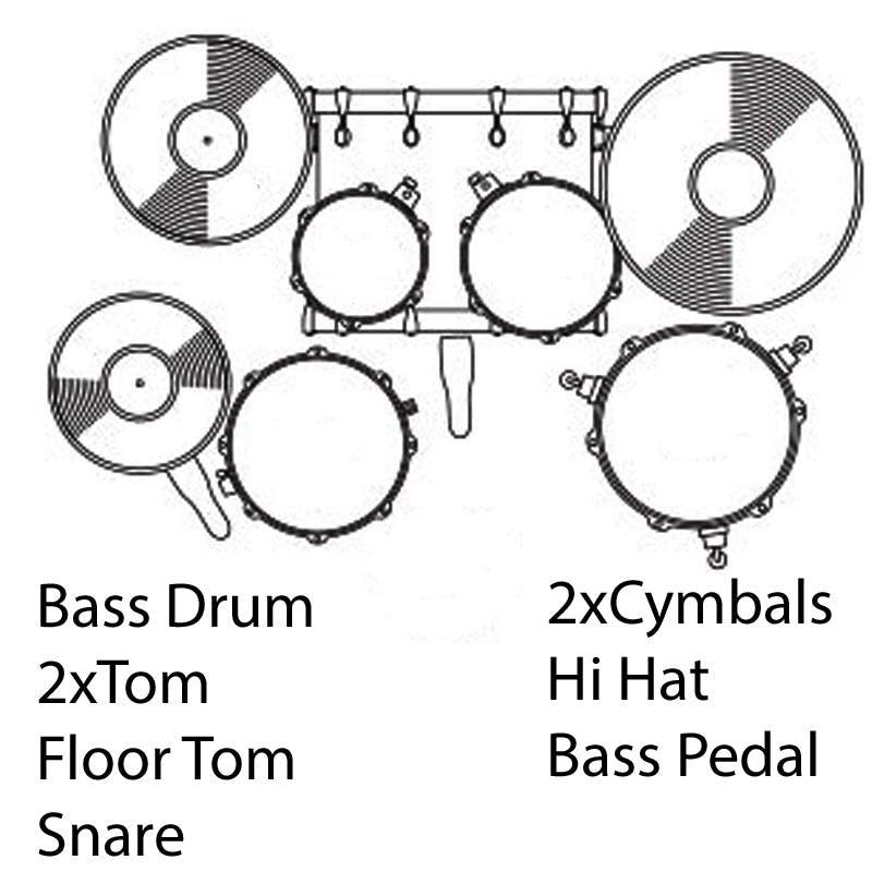Pearl Export 20 Fusion Drum Kit In Black