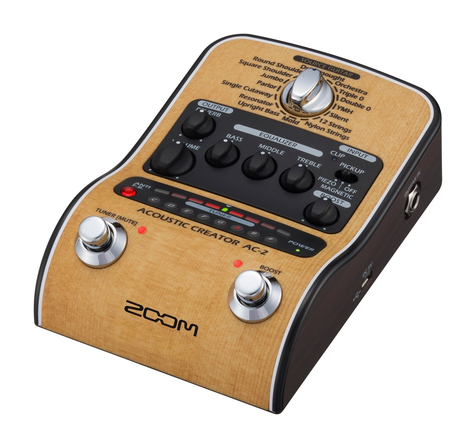 Zoom AC2 Acoustic Guitar FX Pedal - Andertons Music Co