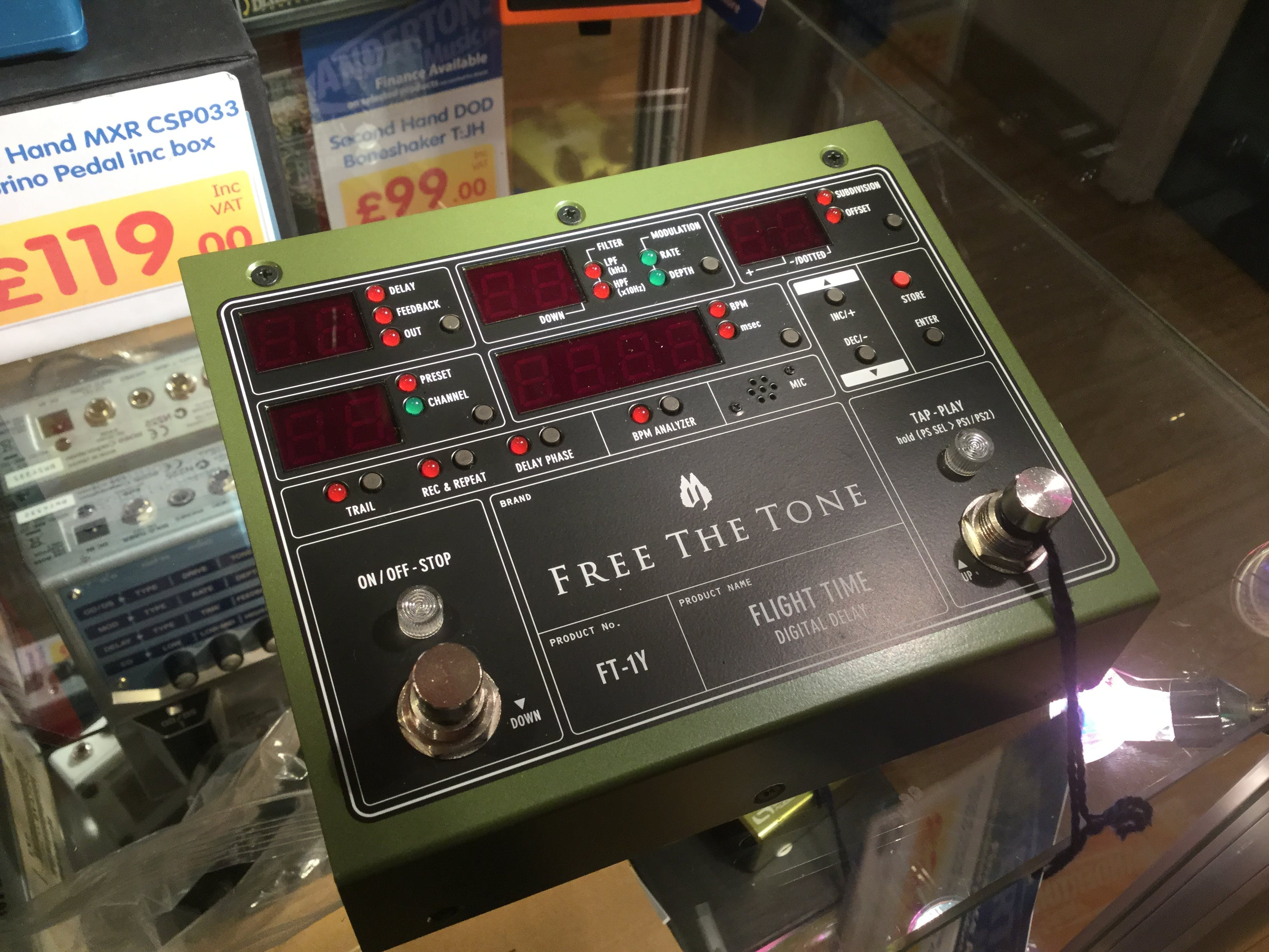 Second Hand Free The Tone Flightime Delay Pedal Inc Box And