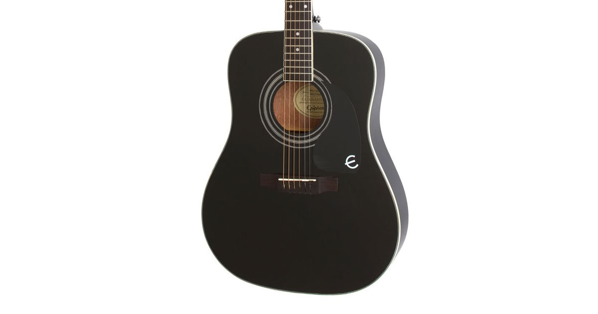 epiphone pro 1 plus acoustic guitar in ebony andertons music co. Black Bedroom Furniture Sets. Home Design Ideas
