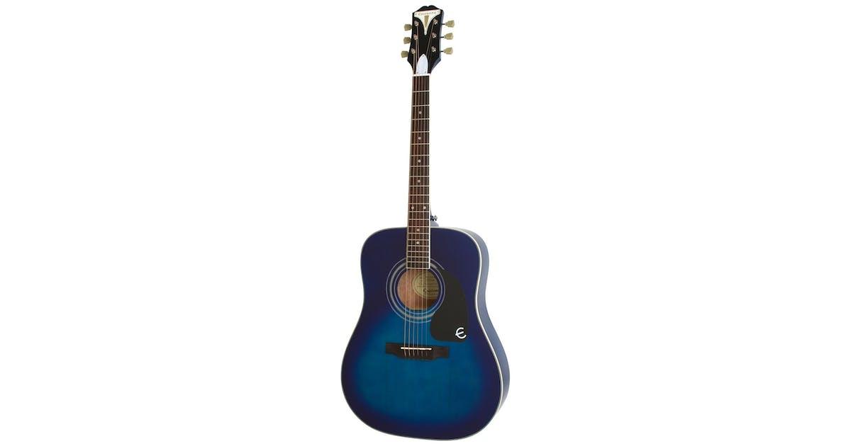 epiphone pro 1 plus acoustic guitar in trans blue andertons music co. Black Bedroom Furniture Sets. Home Design Ideas