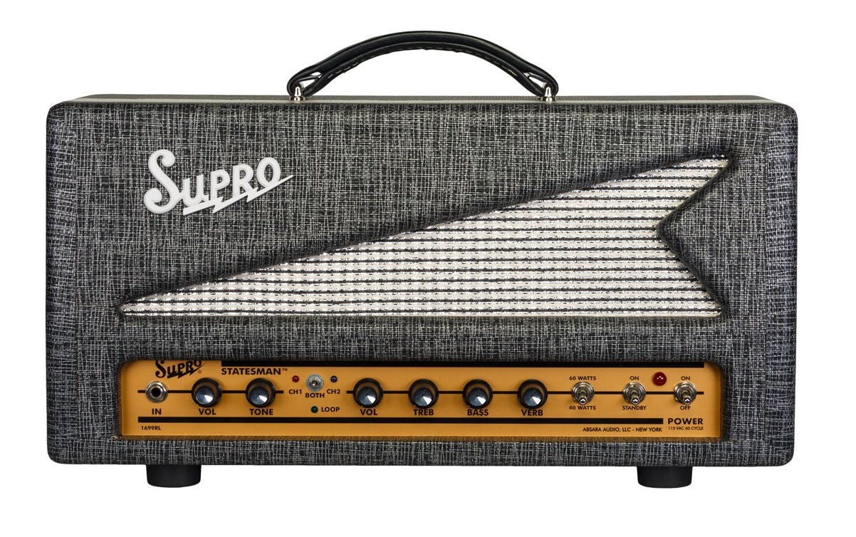 Supro 1699rh Statesman 50w Head Andertons Music Co Comet Epiphone Guitar Amplifier Schematic