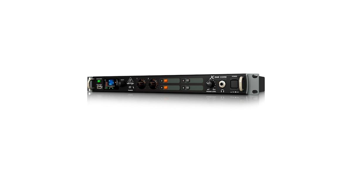 behringer x32 core 1u rackmount digital mixer andertons music co. Black Bedroom Furniture Sets. Home Design Ideas