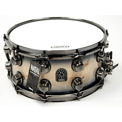 Natal Maple Mappa Burl 14x7 in Black Smoked Gloss with brushed