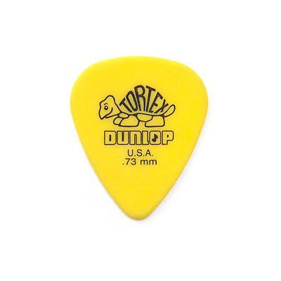 Jim Dunlop Tortex Standard Plectrums 0.73mm 12-Pack