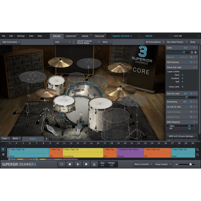 Toontrack Superior Drummer 3 (Download) - Andertons Music Co