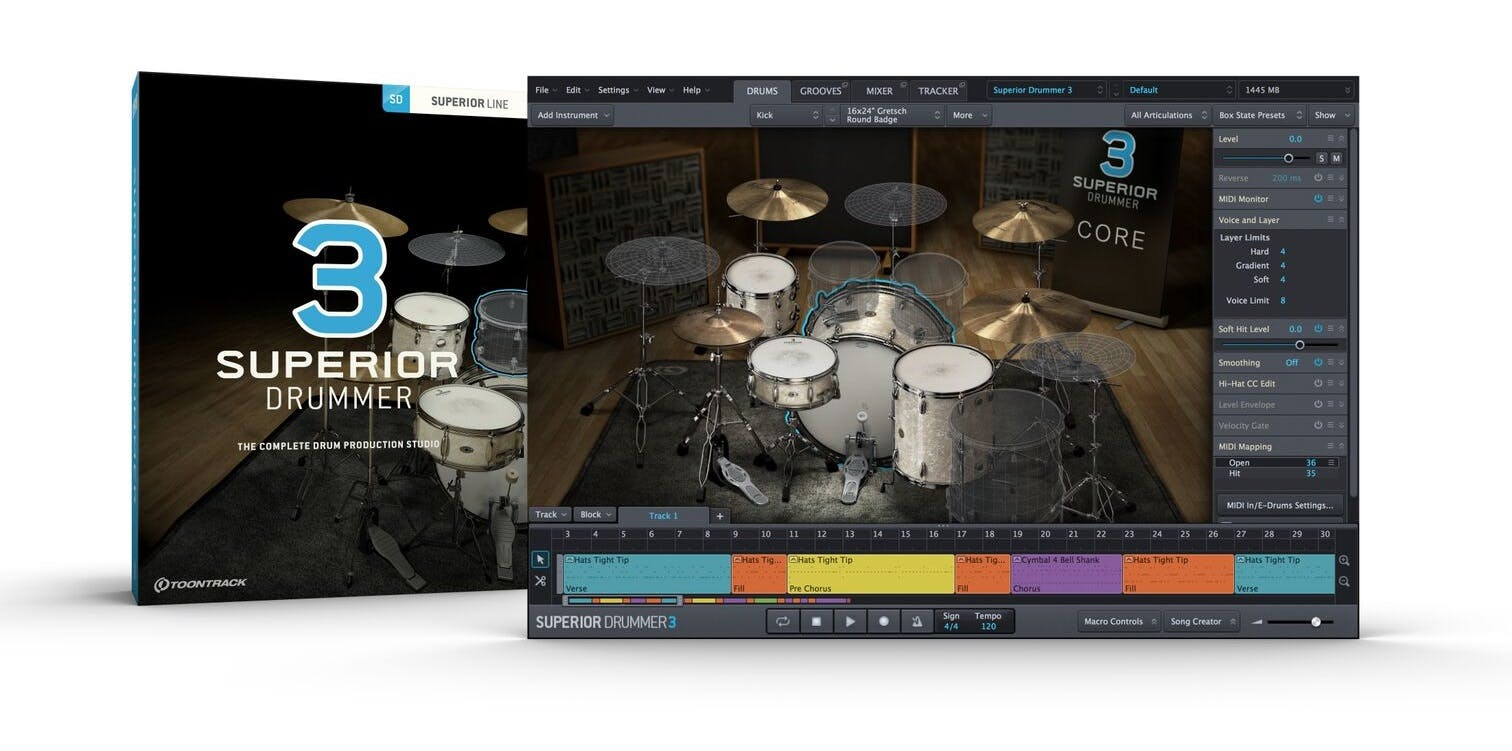 a429c8ab9 Toontrack Superior Drummer 3 Solid State Drive - Andertons Music Co.