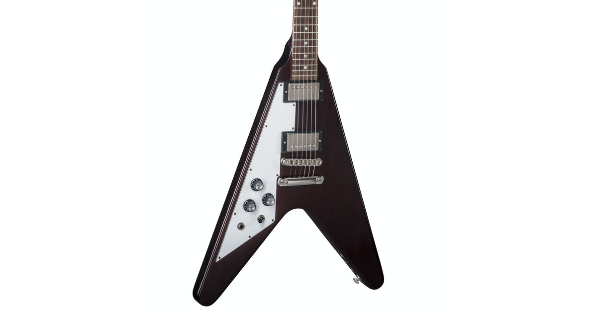 gibson usa 2018 flying v in aged cherry left handed andertons music co music co. Black Bedroom Furniture Sets. Home Design Ideas