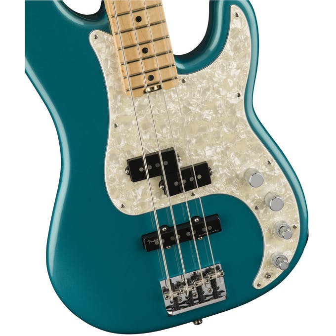 Fender American Elite Precision Bass Maple Neck, Ocean Turquoise ...