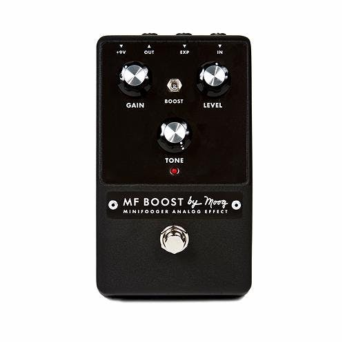 Moog Minifooger Boost Overdrive Distortion Magical Enhancer Pedal W// PSU