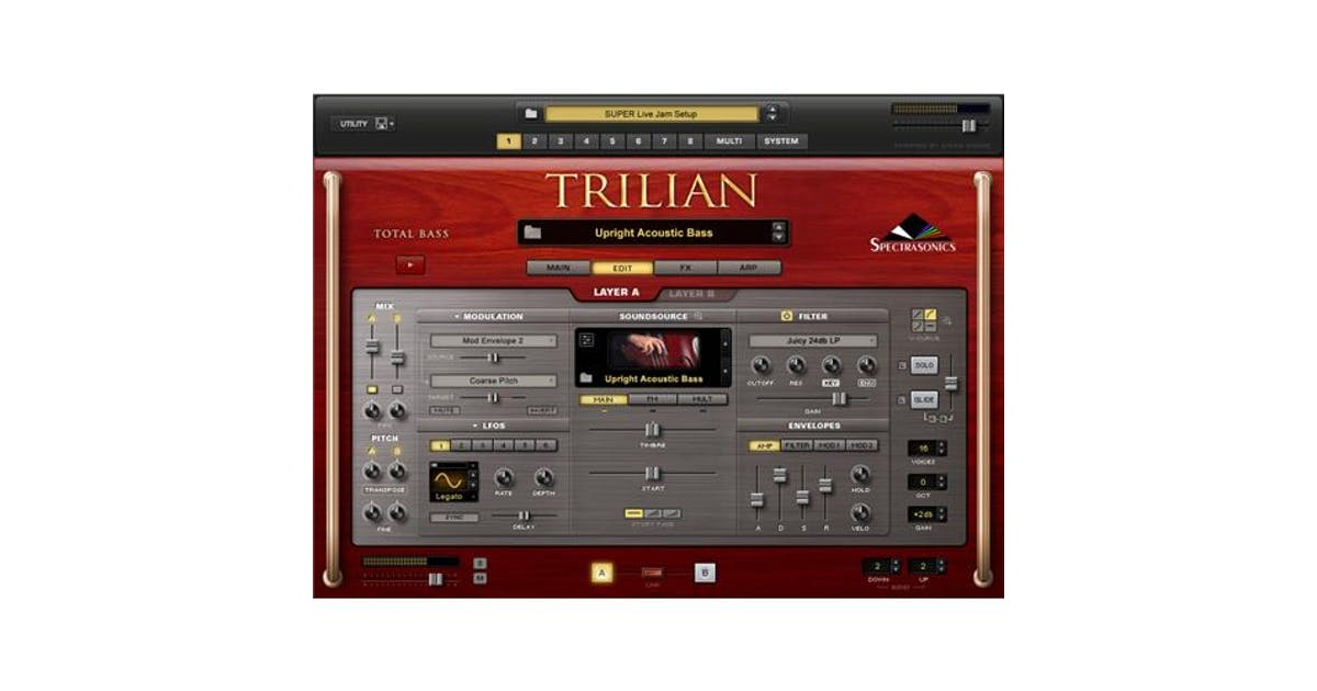 spectrasonics trilian system requirements